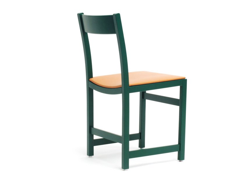 Upholstered leather chair WAITER | Upholstered chair - Massproductions