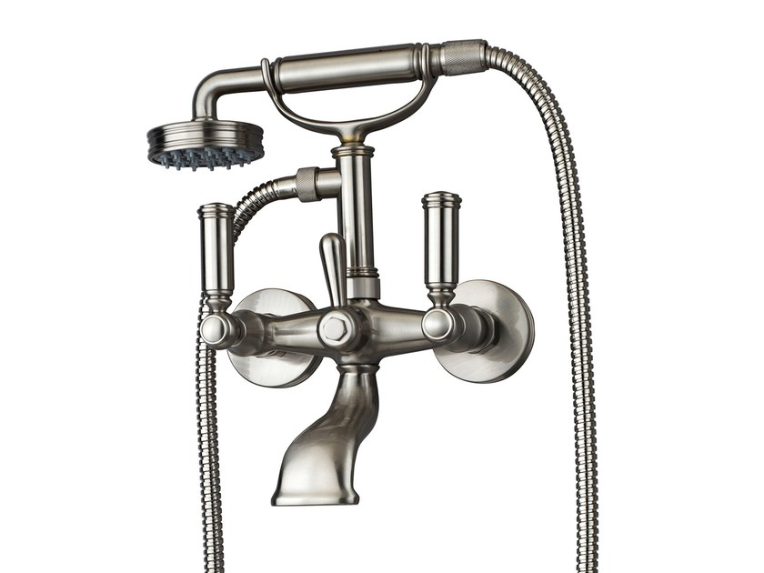 2 hole wall-mounted bathtub mixer LIBERTY | Wall-mounted bathtub mixer by Bossini