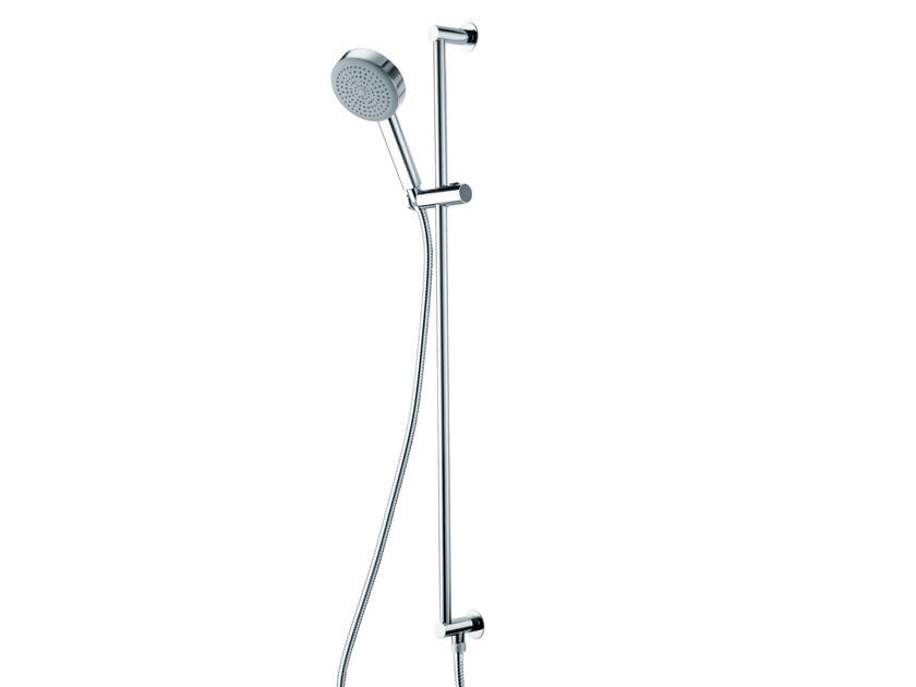 Chrome-plated brass shower wallbar with hand shower DINAMICA | Shower wallbar with hand shower - Bossini