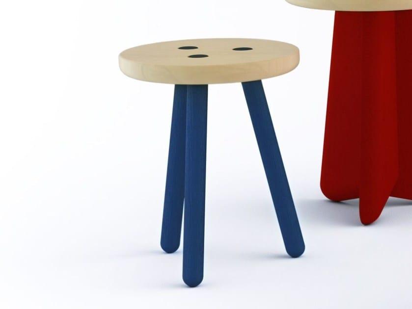 sgabello in legno koo by marcel by design stephan lanez. Black Bedroom Furniture Sets. Home Design Ideas
