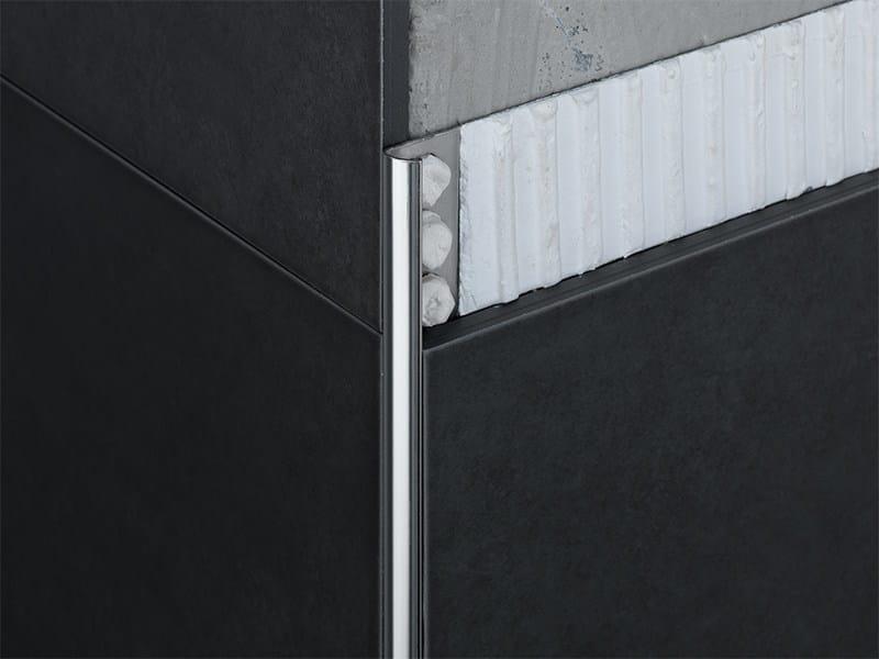Profilo paraspigolo in acciaio inox novocanto profilo paraspigolo in acciaio inox emac italia - Profilo rivestimento bagno ...