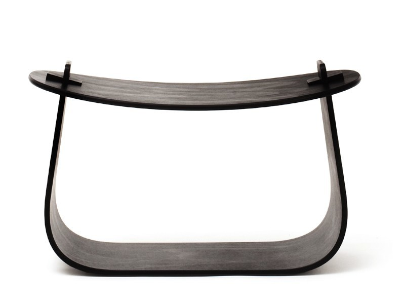 Low oak stool HARRY by Massproductions