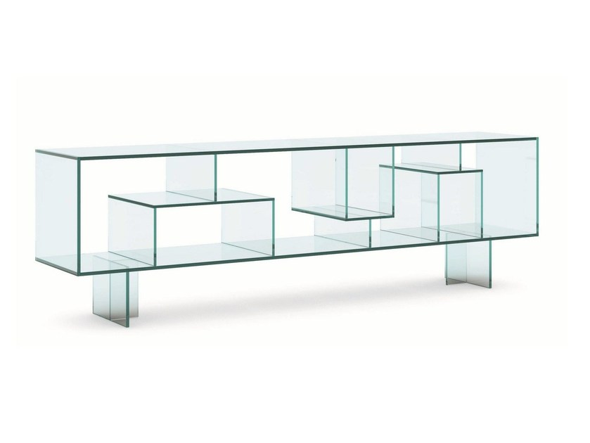 Double-sided glass sideboard LIBER M - T.D. Tonelli Design