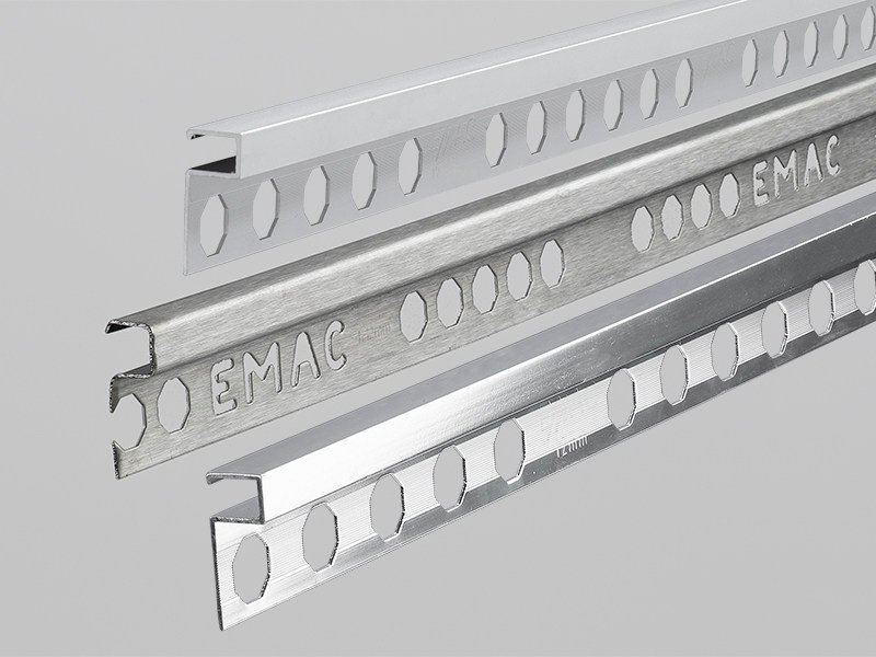 Decorative stainless steel edge profile NOVOLISTEL® 3 *7in1* by EMAC Italia