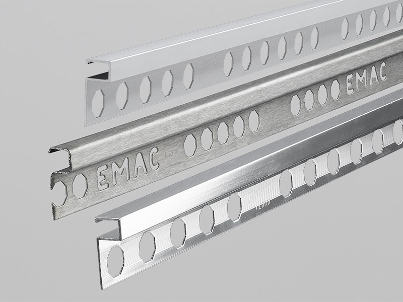 Decorative stainless steel edge profile NOVOLISTEL® 3 *7in1* - EMAC Italia