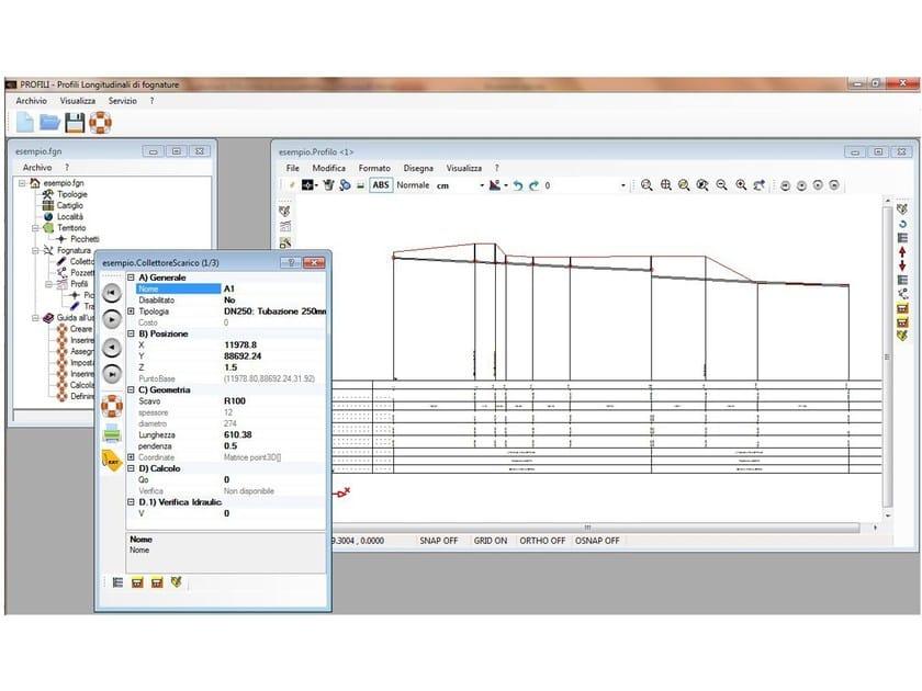 Disegno di profili longitudinali per reti di fognatura for Software di progettazione domestica di piano terra