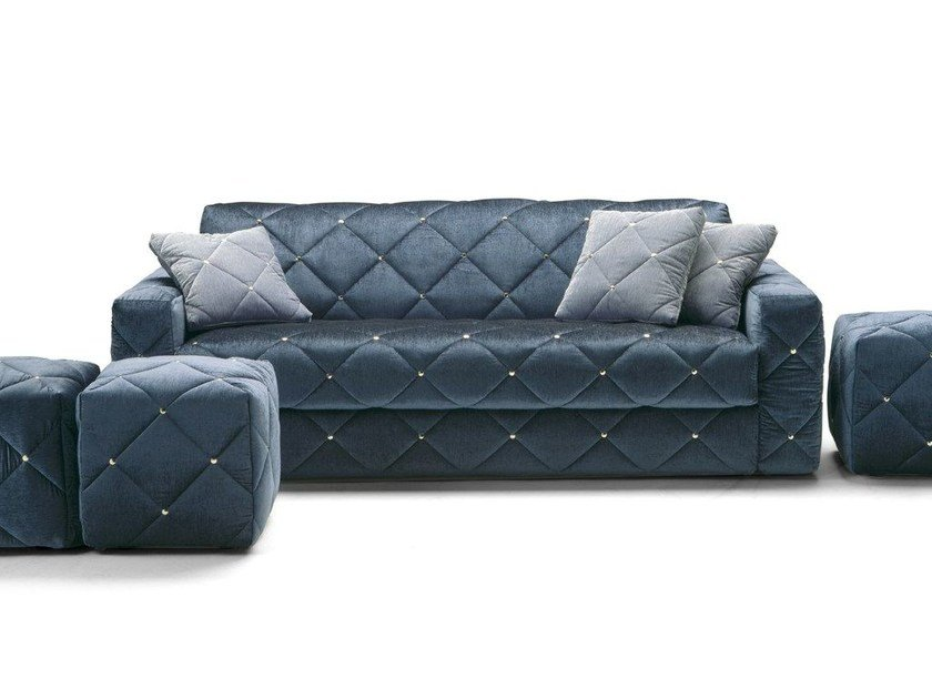 Fabric sofa bed with removable cover DOUGLAS | Sofa bed by Milano Bedding