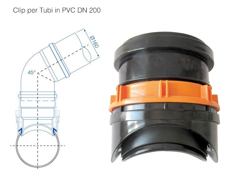 Component for drainage system CLIP PVC - Redi