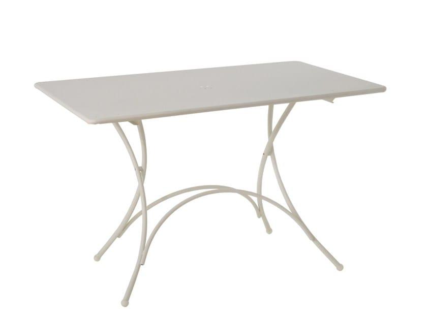 Tavolo da giardino pieghevole rettangolare in acciaio for Emu arredo giardino prezzi