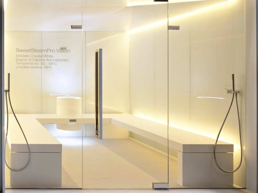 Turkish bath for chromotherapy with shower SWEET STEAM PRO VISION - STARPOOL