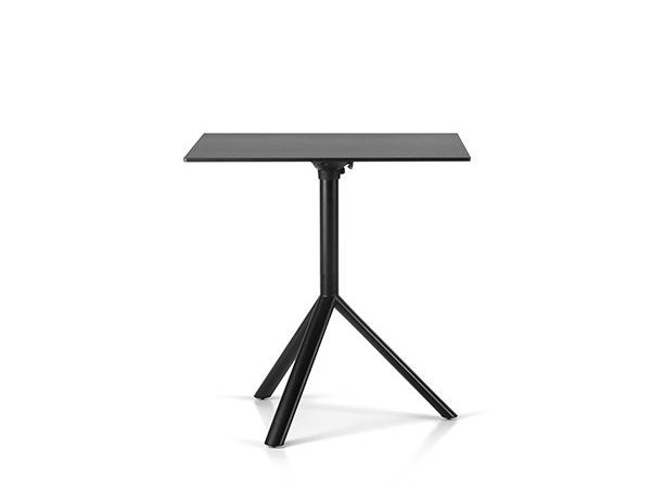 Folding square steel table MIURA | Contract table - Plank
