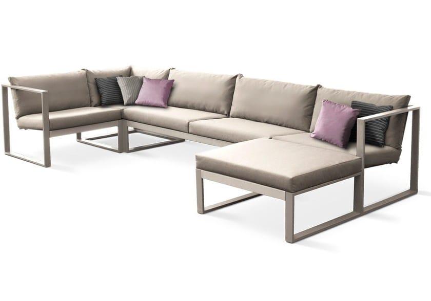 Sectional Batyline® garden sofa MODULAR LOUNGE | Modular sofa by FueraDentro