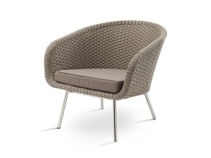Batyline® garden armchair with armrests SHELL EASY | Garden easy chair - FueraDentro