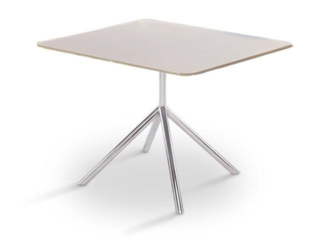 Design square steel garden table SHELL DINING 100 | dining table by FueraDentro