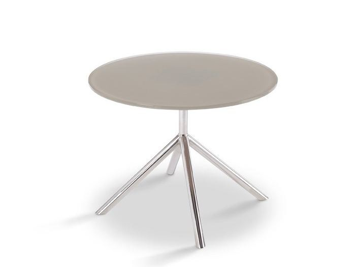 Design round glass garden side table SHELL SIDE 50 | side table - FueraDentro