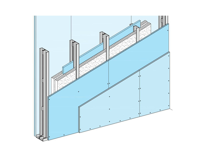 Fireproof panel for interior partition W115+1 - Knauf Italia