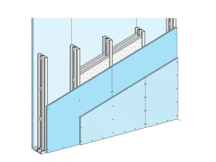 Fireproof panel for interior partition W115 - Knauf Italia