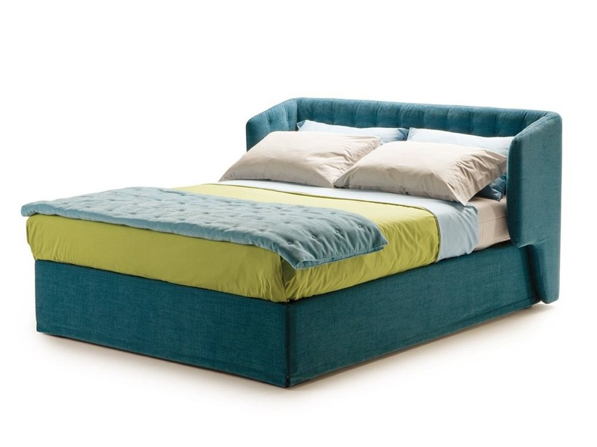 Double bed with upholstered headboard DORSEY-BED - Milano Bedding