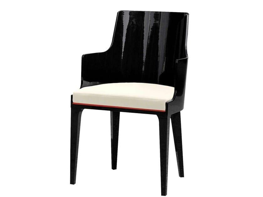 Chaise en cuir avec accoudoirs pianoforte collection - Chaises cuir roche bobois ...