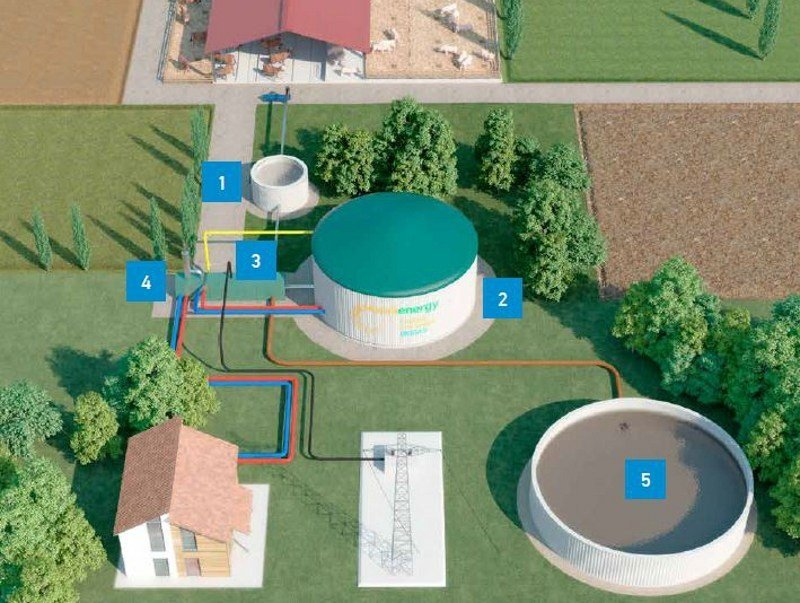 Biogas power plant MANNIEASY by MANNI ENERGY