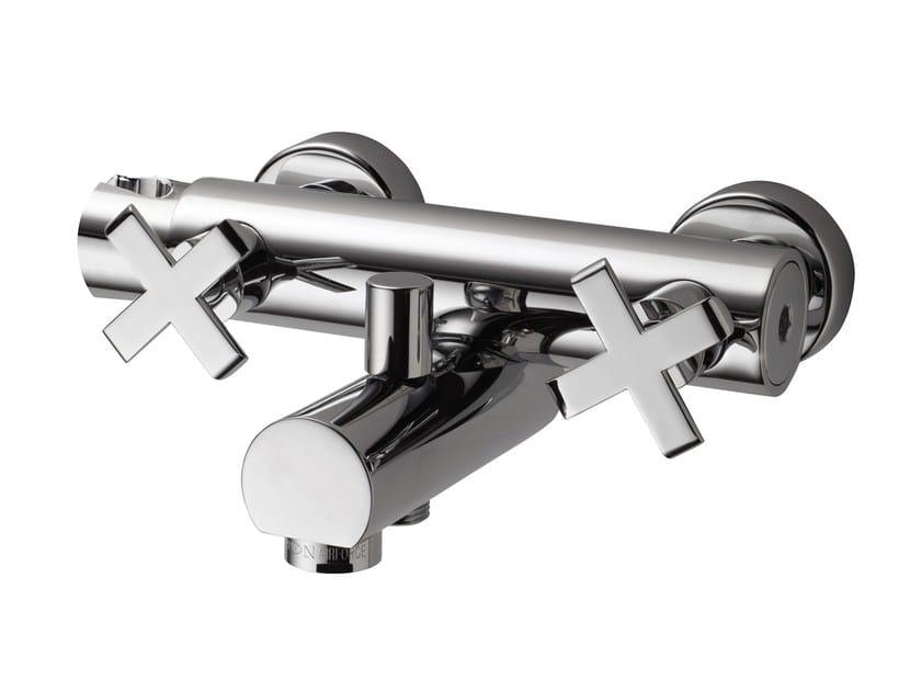 Design wall-mounted steel bathtub tap EXEDRA | Wall-mounted bathtub tap - Bossini