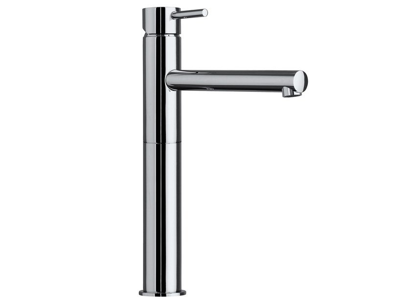 Design single handle brass washbasin mixer OKI   Countertop washbasin mixer - Bossini