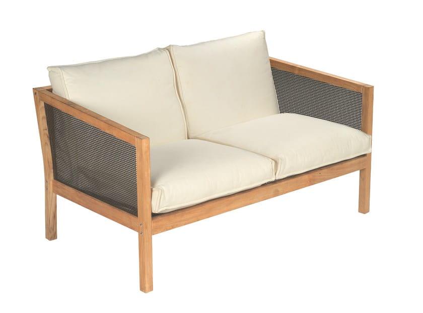 Divano da giardino a 2 posti imbottito in teak collezione - Emu mobili da giardino ...