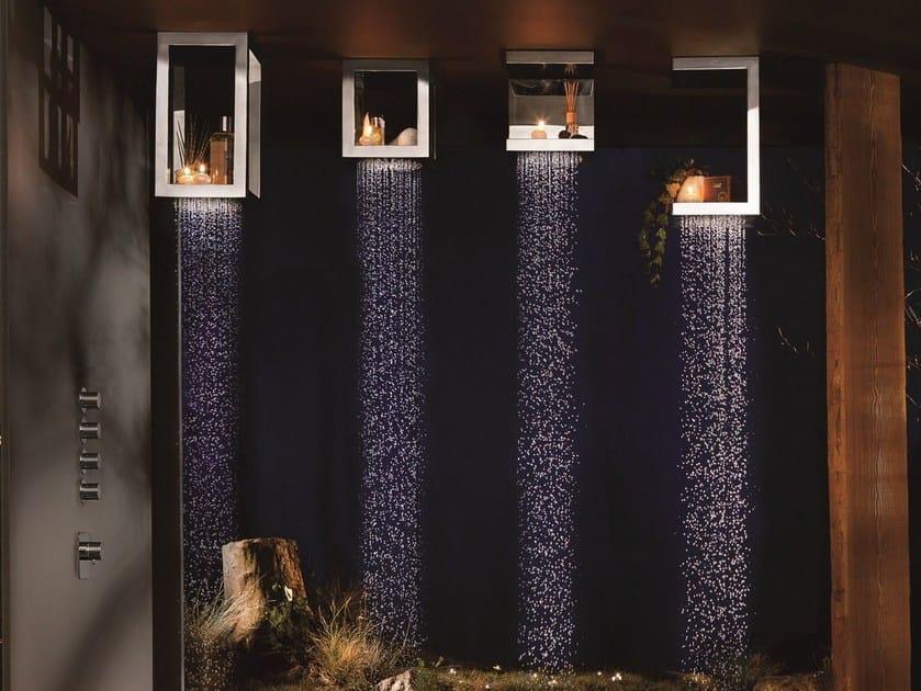 Ceiling mounted stainless steel rain shower BOUGIES | Ceiling mounted overhead shower - RUBINETTERIE RITMONIO