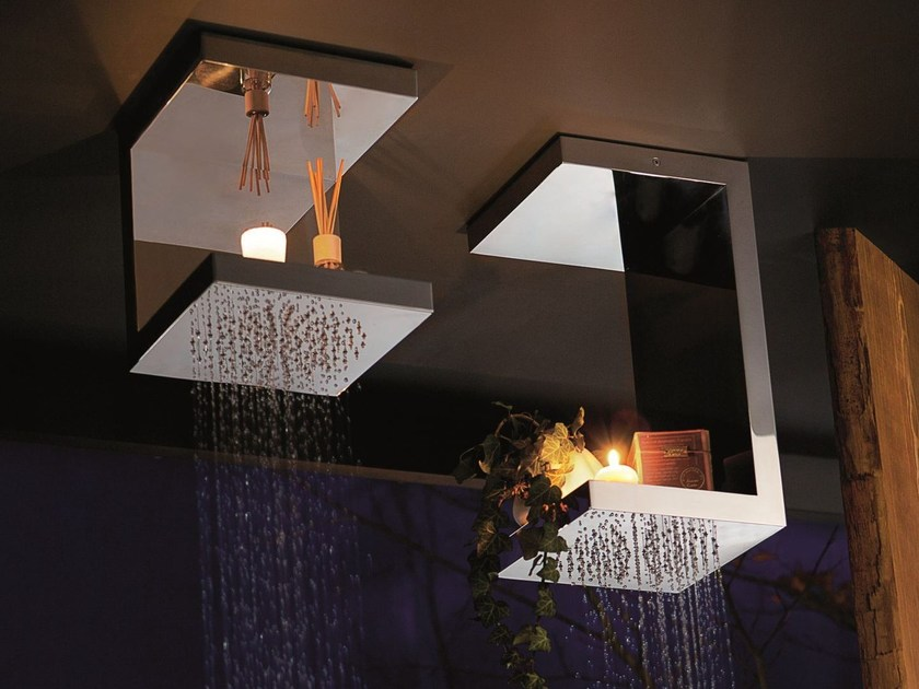 Ceiling mounted stainless steel overhead shower BOUGIES   Stainless steel overhead shower by RITMONIO