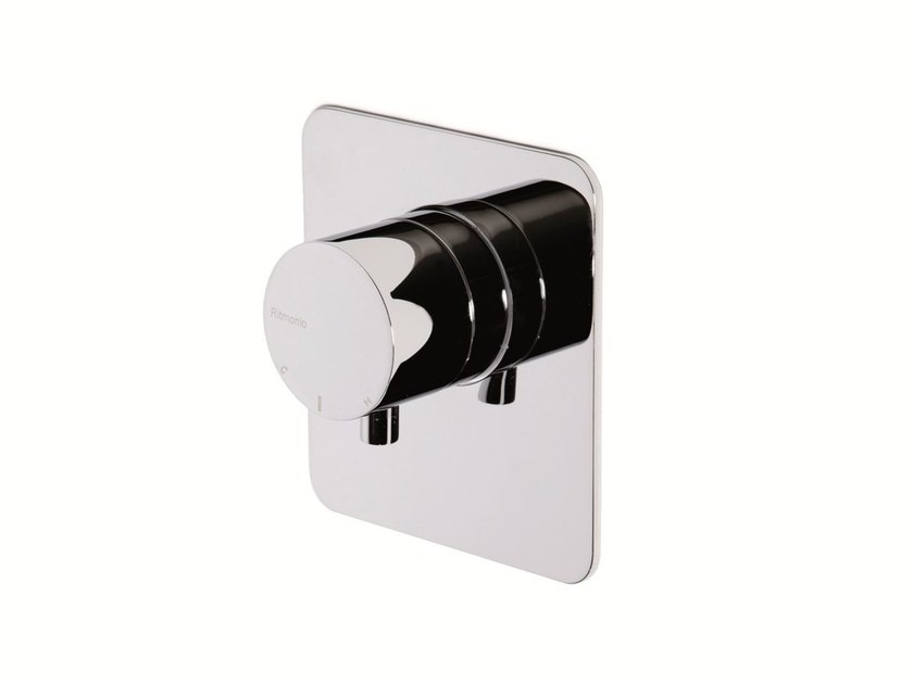 Chrome-plated thermostatic shower mixer with plate FEELGOOD | Thermostatic shower mixer - RUBINETTERIE RITMONIO