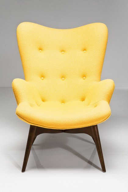 Ohrensessel aus stoff angle wings yellow by kare design for Ohrensessel stoff