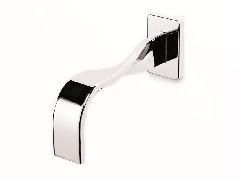 Wall-mounted chrome-plated bathtub spout NASTRO | Spout - RUBINETTERIE RITMONIO