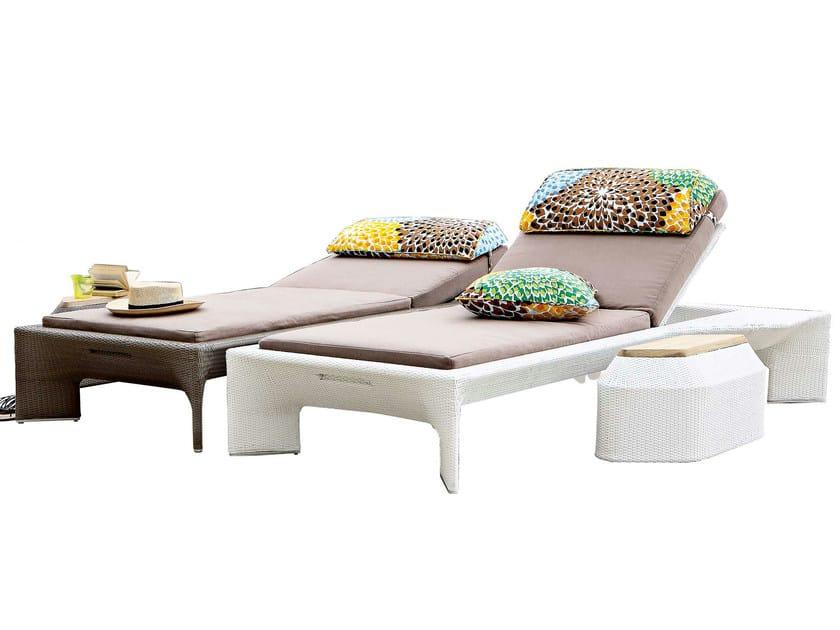 Bel air chaise longue by roche bobois design sacha lakic for Chaise longue roche bobois