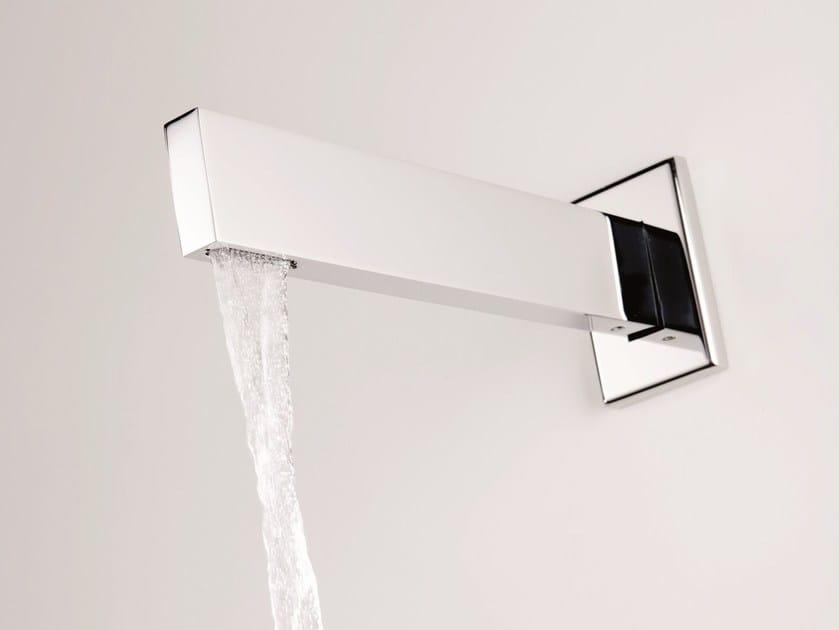 Wall-mounted chrome-plated bathtub spout TETRIS | Spout by RITMONIO