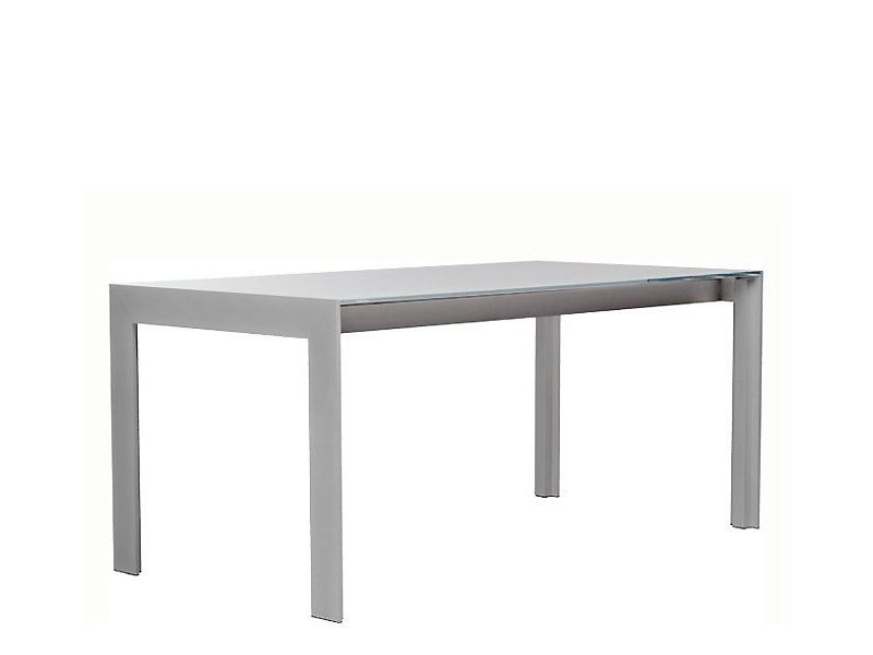 Rectangular aluminium table MATRIX | Rectangular table - PEDRALI