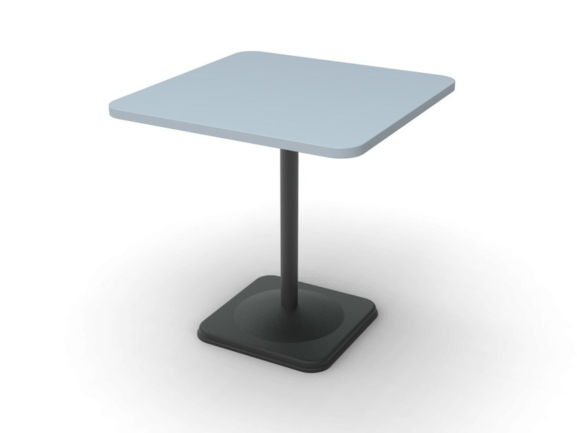Square cast iron table BUBBLE-44 - Vela Arredamenti