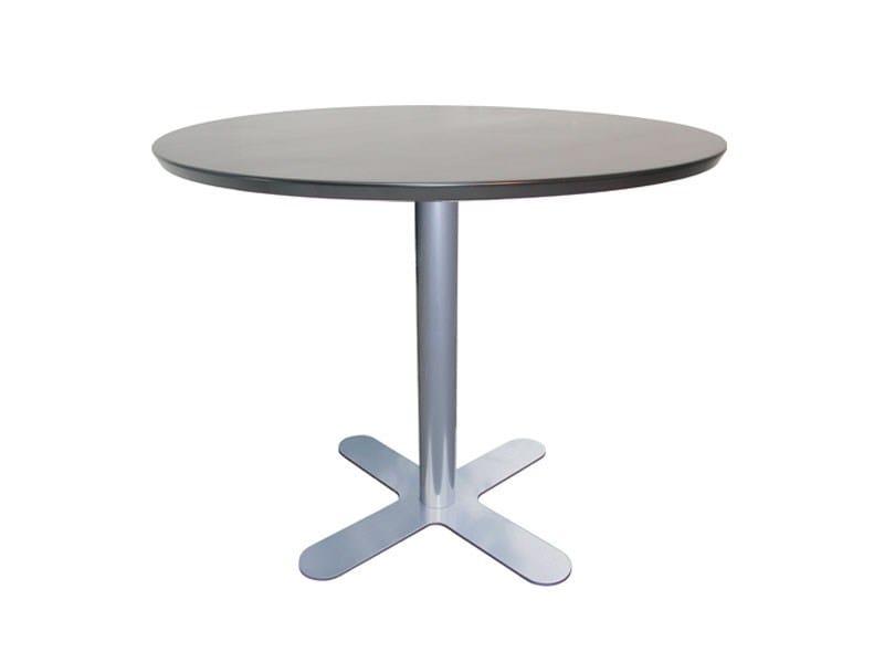 Iron table with 4-star base PETALI-50x50 - Vela Arredamenti