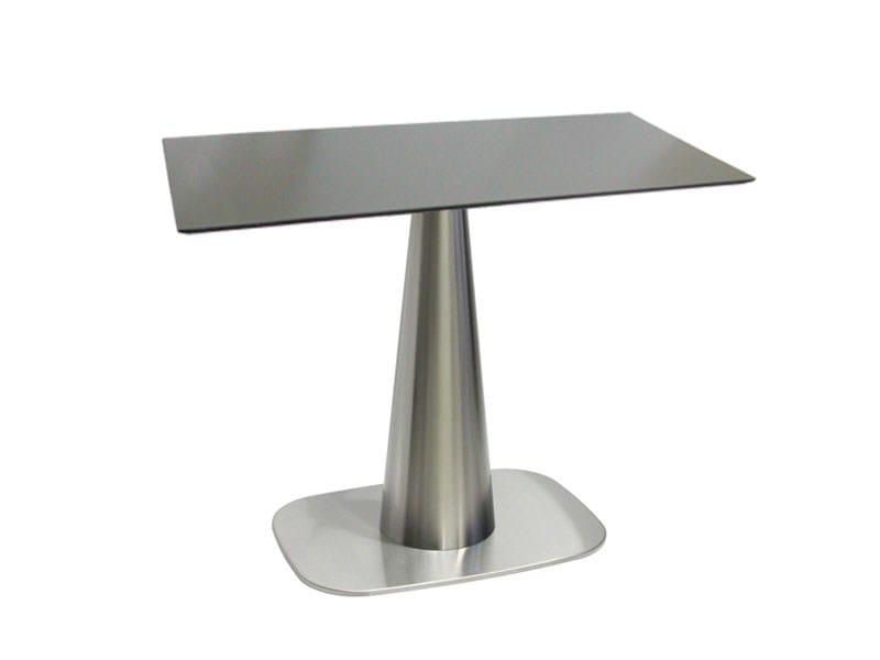 Rectangular stainless steel table RONDOCONO-64-X - Vela Arredamenti