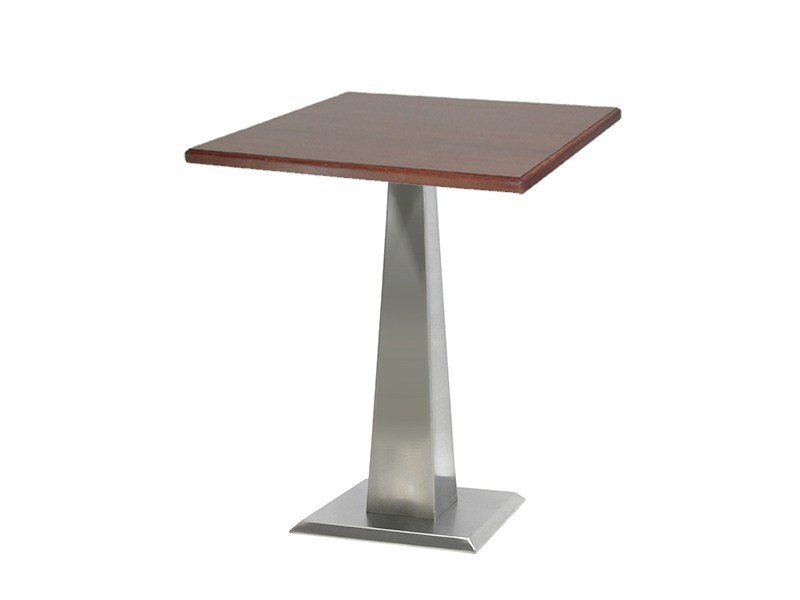 Square stainless steel table ISOPIRA-44-X by Vela Arredamenti