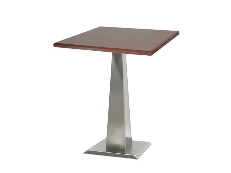 Square stainless steel table ISOPIRA-44-X - Vela Arredamenti