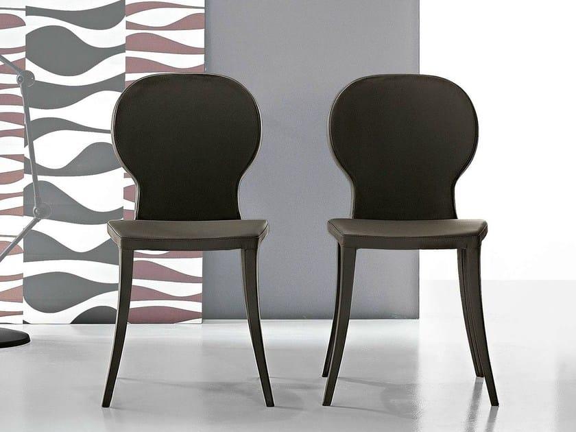 Medallion upholstered chair VICTORIA - Bonaldo