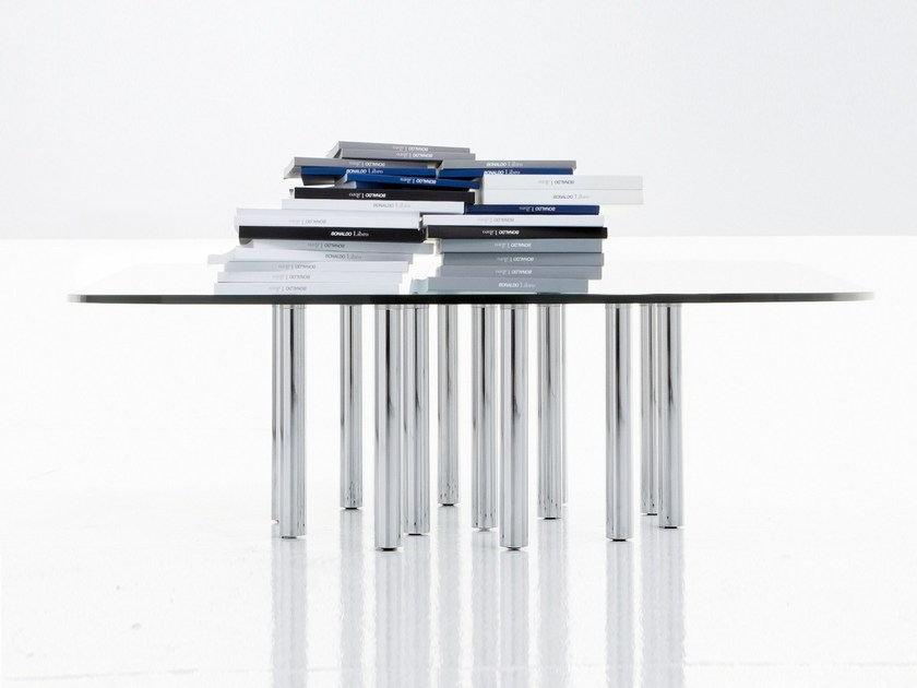 Low crystal coffee table MILLE COFFEE - Bonaldo