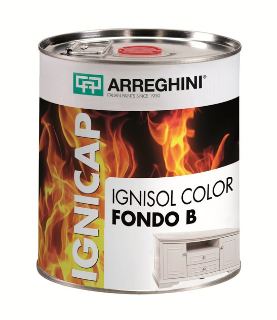 Fire-retardant finish IGNISOL COLOR FONDO A+B | Fire-retardant finish - CAP ARREGHINI