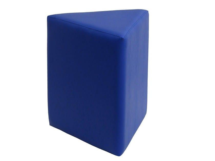 Upholstered imitation leather pouf POUF-PIR - Vela Arredamenti