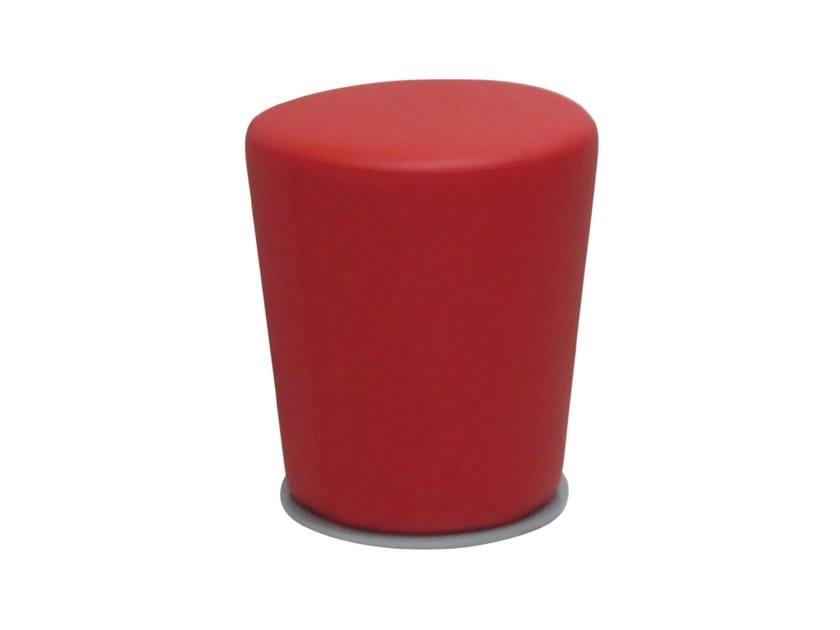 Upholstered imitation leather pouf POUF-CON - Vela Arredamenti