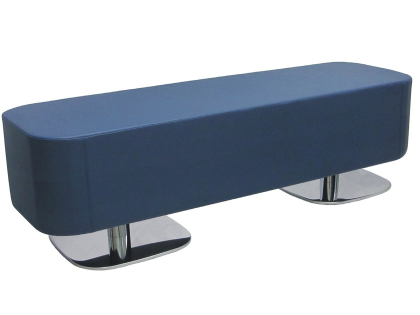 Upholstered imitation leather bench RET-S - Vela Arredamenti