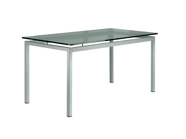 Rectangular glass and iron table REVO - Vela Arredamenti