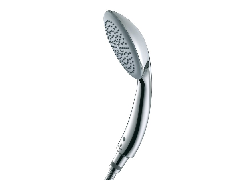 Design 1-spray chrome-plated handshower with anti-lime system OCEAN/1 | Handshower - Bossini