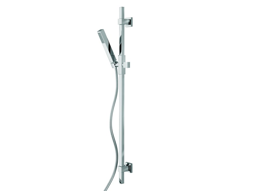 Design chrome-plated brass shower wallbar with hand shower with hose D91001 | Shower wallbar - Bossini