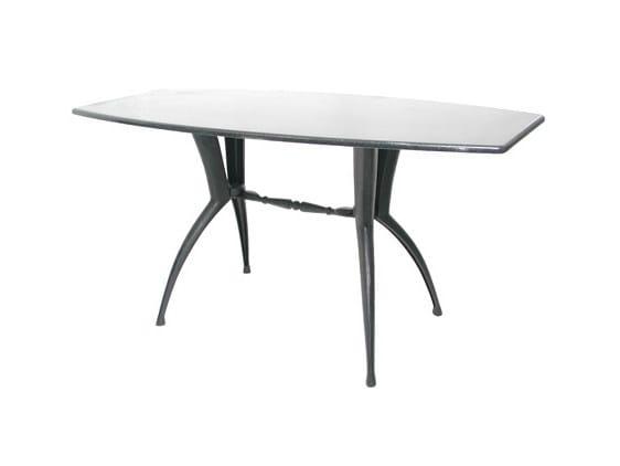Rectangular cast iron table ARCO-6 - Vela Arredamenti